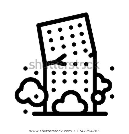 Costruzione collasso icona vettore contorno Foto d'archivio © pikepicture