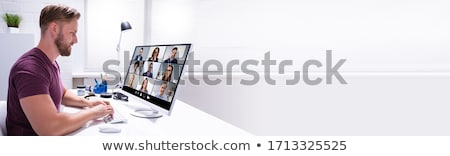 Watching Video Conference Business Webinar Stock photo © AndreyPopov