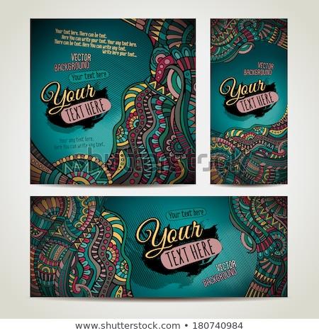 Korporacyjnych tożsamości wektora szablony zestaw bazgroły Zdjęcia stock © balabolka