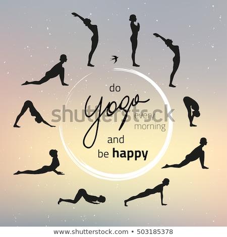 Woman doing yoga Sun salutation Surya Namaskar Stock photo © dmitry_rukhlenko