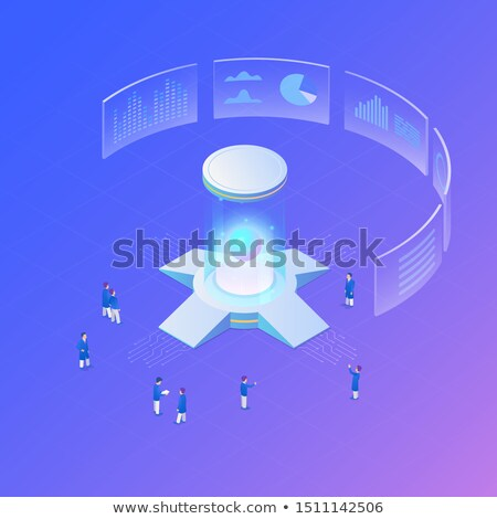 сетей искусственный большой центр обработки данных изометрический икона Сток-фото © pikepicture