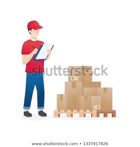 Armazém trabalhador manter inventário Foto stock © vichie81