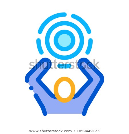 Human Hold Target Icon Vector Outline Illustration Stock photo © pikepicture