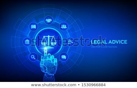 Juridiques services avoué société Consulting soutien Photo stock © RAStudio