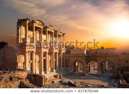 Stok fotoğraf: Mermer · heykel · Roma · kemer · Bina · ağaçlar