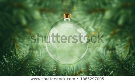 natal · fronteira · verde · ouro · cetim · imagem - foto stock © pixelman