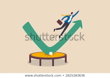 Business man on the arrow (Success or fall concept) Stock photo © 4designersart