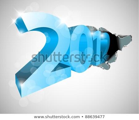 szczęśliwego · nowego · roku · 2012 · przezroczysty · numer · różny · efekty · świetlne - zdjęcia stock © orson