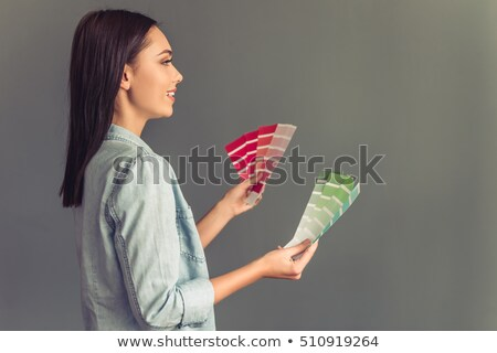 woman holding a color chart Stock photo © photography33