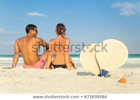 deux · soeurs · jouer · plage · jour · temps - photo stock © photography33