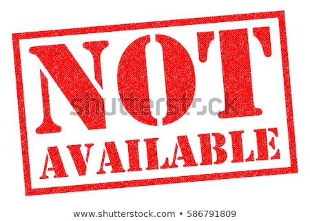 niet · Rood · witte · business · knop - stockfoto © bbbar