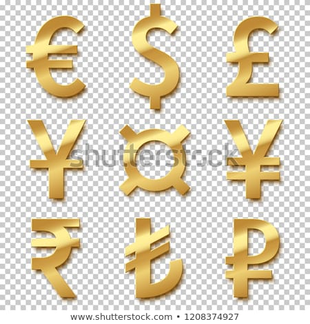 3D · valuta · szimbólum · felirat · csoport · fehér - stock fotó © adamr