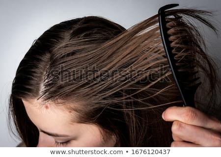 жирный человека грубая оберточная бумага сумку Сток-фото © Stocksnapper