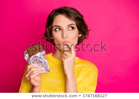 Girl Enjoying Sugary Chocolate Stock photo © stuartmiles