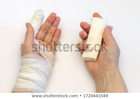 Ujj bandázs pont kéz vér gyógyszer Stock fotó © pinkblue