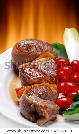 beef hearth tomato cutted Stock photo © smithore