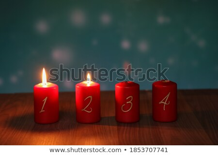 два свечей приход реальный рождественская елка Сток-фото © 3523studio