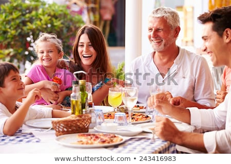Man and grandmother in restaurant Stock photo © photography33