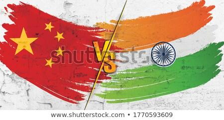 exército · China · quadro · guerra · serviço · silhueta - foto stock © perysty