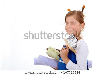 Sweet девочку готовый дома улыбка Сток-фото © photography33