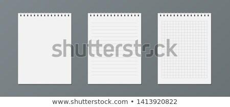 блокнот отмечает изолированный белый сведению Сток-фото © HectorSnchz