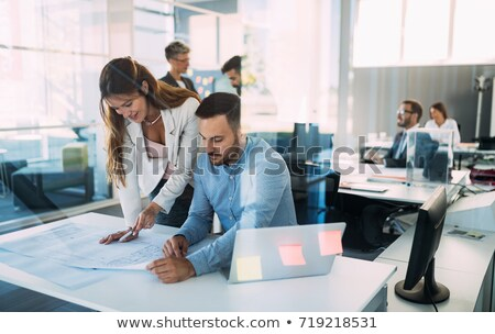 Couple of executives discussing Stock photo © photography33