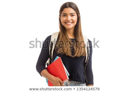 Estudante livros poucos sessão tabela Foto stock © stevanovicigor