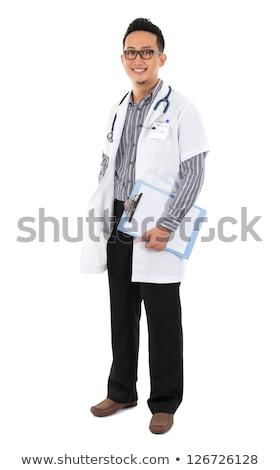 юго-восток азиатских медик молодые Постоянный белый Сток-фото © szefei