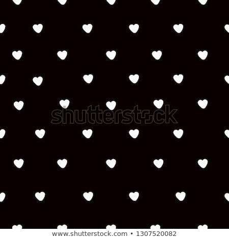 lovely small hearts and flowers on black seamless pattern stock photo © julietphotography