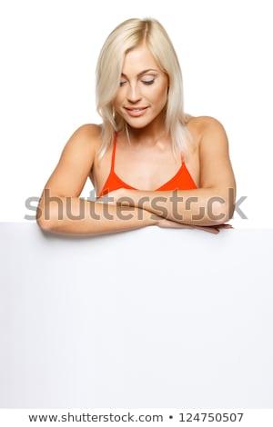 женщина улыбается студию улыбка счастливым Сток-фото © wavebreak_media