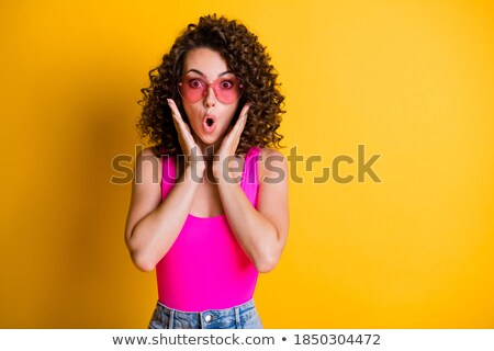 Young Woman In Yellow Tanktop And Eye Glasses Stock photo © dash