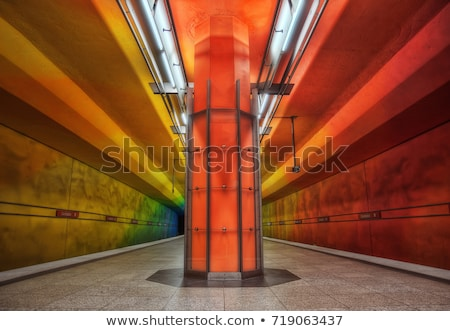 Yeraltı hdr metro istasyon panorama Stok fotoğraf © aetb