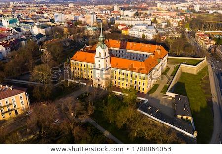 Polonya yönetim Bina tipik mimari kartal Stok fotoğraf © FER737NG