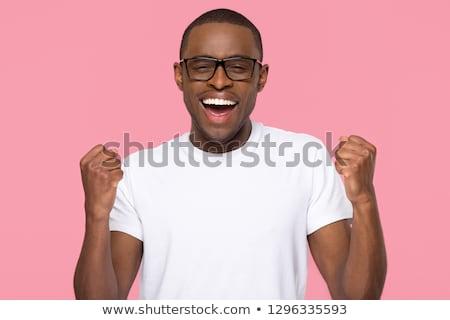 意気揚々 若い男 興奮した エネルギッシュな 成功 ストックフォト © elenaphoto
