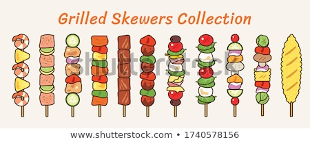 Skewered food Stock photo © zzve