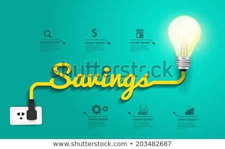 Salvare energia illustrazione natura lampada Foto d'archivio © ankarb