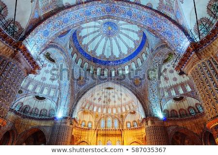 Mecset kék Isztambul reggel város épületek Stock fotó © AndreyKr