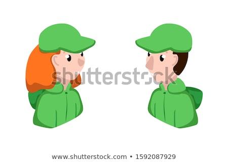 笑みを浮かべて 着用 帽子 ビーチ 子供 ストックフォト © DonLand