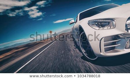 Branco carro nuvens esportes mar Foto stock © ArenaCreative
