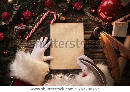 Christmas card Santa Claus and blank space for writing Stock photo © marimorena