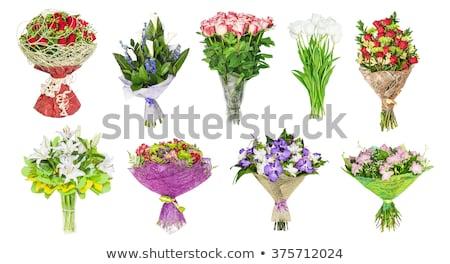 Piękna bukiet ślubny biały tulipany kwiaty ślub Zdjęcia stock © tannjuska