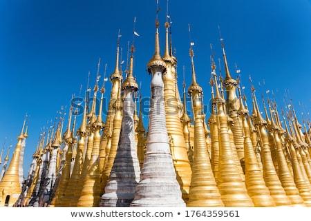 Foto stock: Velho · Mianmar · birmânia · sudeste · da · Ásia · edifício · arquitetura