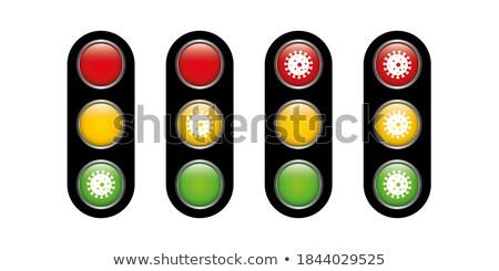 ストックフォト: 信号 · ボタン · ベクトル · 光 · 緑 · トラフィック