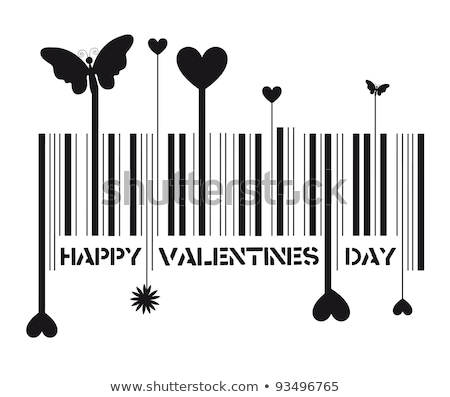 Valentine código de barras negócio dinheiro coração fundo Foto stock © shawlinmohd