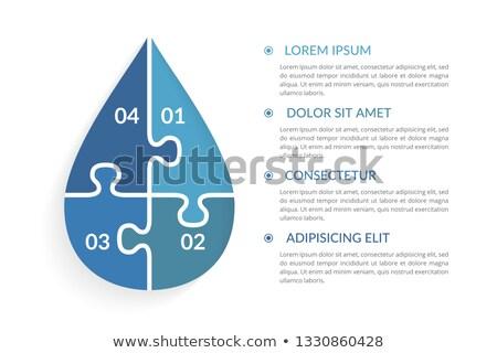 Puzzel opties werk achtergrond informatie grafiek Stockfoto © opicobello