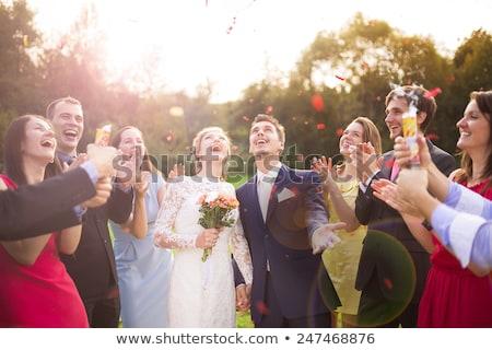 Yeni evliler açık havada vücut yeni açık Stok fotoğraf © Ainat