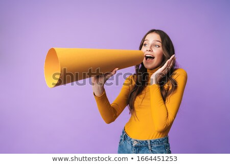 Charming lady with mouthpiece Stock photo © Nejron