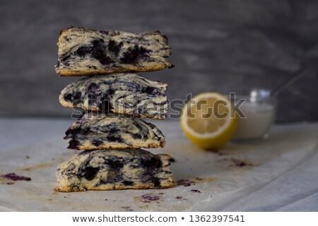Four home baked scones Stock photo © raphotos