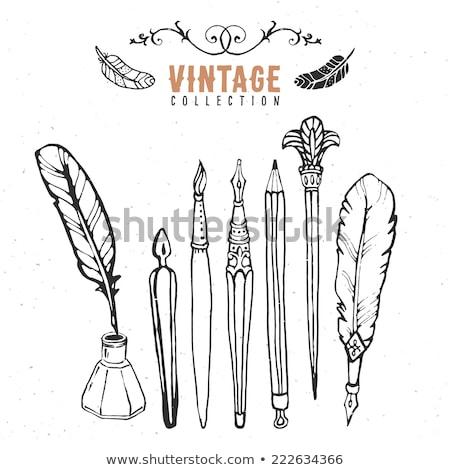 万年筆 · ペン · デザイン · 鉛筆 - ストックフォト © neirfy