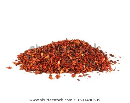 Piros paprika fakanál közelkép rusztikus fából készült piros Stock fotó © zhekos